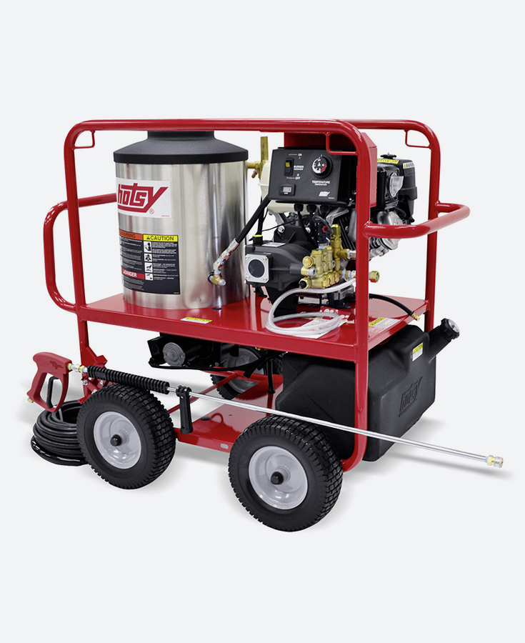 HOTSY Hot Water Pressure Washer - GAS ENGINE SERIES, DIRECT-DRIVE (1065SSE)
